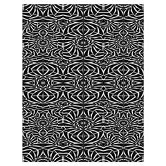 Black And White Tribal Pattern Drawstring Bag (large) by dflcprints