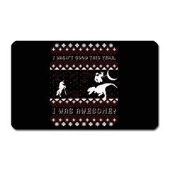 I Wasn t Good This Year, I Was Awesome! Ugly Holiday Christmas Black Background Magnet (rectangular) by Onesevenart