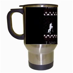 I Wasn t Good This Year, I Was Awesome! Ugly Holiday Christmas Black Background Travel Mugs (white) by Onesevenart