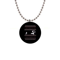 I Wasn t Good This Year, I Was Awesome! Ugly Holiday Christmas Black Background Button Necklaces by Onesevenart