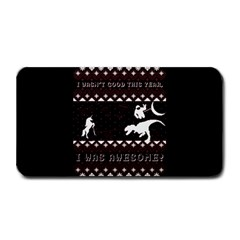I Wasn t Good This Year, I Was Awesome! Ugly Holiday Christmas Black Background Medium Bar Mats by Onesevenart
