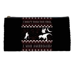 I Wasn t Good This Year, I Was Awesome! Ugly Holiday Christmas Black Background Pencil Cases by Onesevenart