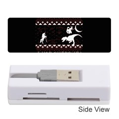 I Wasn t Good This Year, I Was Awesome! Ugly Holiday Christmas Black Background Memory Card Reader (stick)  by Onesevenart