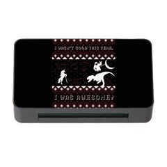 I Wasn t Good This Year, I Was Awesome! Ugly Holiday Christmas Black Background Memory Card Reader With Cf by Onesevenart