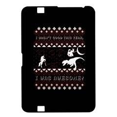 I Wasn t Good This Year, I Was Awesome! Ugly Holiday Christmas Black Background Kindle Fire Hd 8 9  by Onesevenart