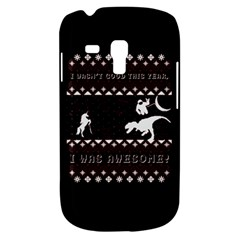 I Wasn t Good This Year, I Was Awesome! Ugly Holiday Christmas Black Background Samsung Galaxy S3 Mini I8190 Hardshell Case by Onesevenart