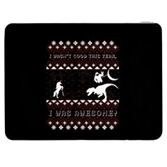 I Wasn t Good This Year, I Was Awesome! Ugly Holiday Christmas Black Background Samsung Galaxy Tab 7  P1000 Flip Case by Onesevenart