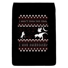 I Wasn t Good This Year, I Was Awesome! Ugly Holiday Christmas Black Background Flap Covers (s)  by Onesevenart