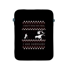 I Wasn t Good This Year, I Was Awesome! Ugly Holiday Christmas Black Background Apple Ipad 2/3/4 Protective Soft Cases by Onesevenart