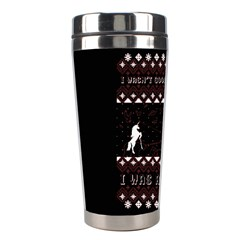I Wasn t Good This Year, I Was Awesome! Ugly Holiday Christmas Black Background Stainless Steel Travel Tumblers by Onesevenart