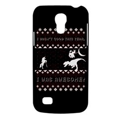 I Wasn t Good This Year, I Was Awesome! Ugly Holiday Christmas Black Background Galaxy S4 Mini by Onesevenart