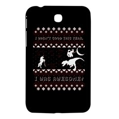 I Wasn t Good This Year, I Was Awesome! Ugly Holiday Christmas Black Background Samsung Galaxy Tab 3 (7 ) P3200 Hardshell Case  by Onesevenart