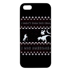 I Wasn t Good This Year, I Was Awesome! Ugly Holiday Christmas Black Background Iphone 5s/ Se Premium Hardshell Case by Onesevenart
