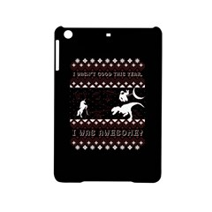 I Wasn t Good This Year, I Was Awesome! Ugly Holiday Christmas Black Background Ipad Mini 2 Hardshell Cases by Onesevenart