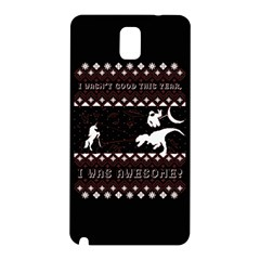 I Wasn t Good This Year, I Was Awesome! Ugly Holiday Christmas Black Background Samsung Galaxy Note 3 N9005 Hardshell Back Case by Onesevenart