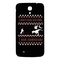 I Wasn t Good This Year, I Was Awesome! Ugly Holiday Christmas Black Background Samsung Galaxy Mega I9200 Hardshell Back Case by Onesevenart