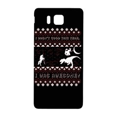I Wasn t Good This Year, I Was Awesome! Ugly Holiday Christmas Black Background Samsung Galaxy Alpha Hardshell Back Case by Onesevenart