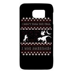 I Wasn t Good This Year, I Was Awesome! Ugly Holiday Christmas Black Background Galaxy S6 by Onesevenart