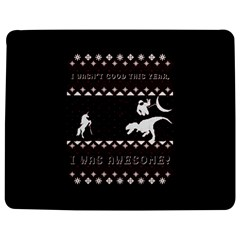 I Wasn t Good This Year, I Was Awesome! Ugly Holiday Christmas Black Background Jigsaw Puzzle Photo Stand (rectangular) by Onesevenart