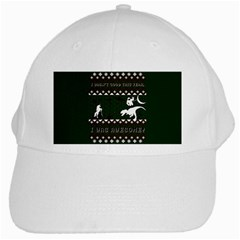I Wasn t Good This Year, I Was Awesome! Ugly Holiday Christmas Green Background White Cap by Onesevenart