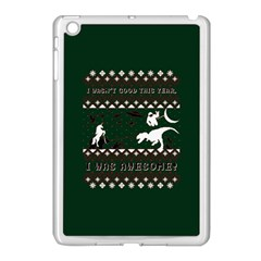 I Wasn t Good This Year, I Was Awesome! Ugly Holiday Christmas Green Background Apple Ipad Mini Case (white) by Onesevenart