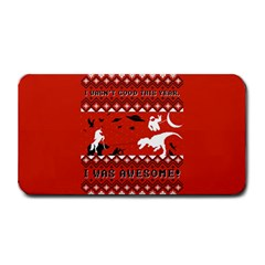 I Wasn t Good This Year, I Was Awesome! Ugly Holiday Christmas Red Background Medium Bar Mats by Onesevenart