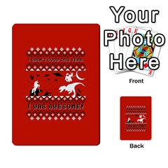 I Wasn t Good This Year, I Was Awesome! Ugly Holiday Christmas Red Background Multi Purpose Cards (rectangle)  by Onesevenart