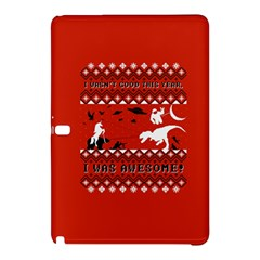 I Wasn t Good This Year, I Was Awesome! Ugly Holiday Christmas Red Background Samsung Galaxy Tab Pro 12 2 Hardshell Case by Onesevenart