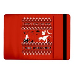 I Wasn t Good This Year, I Was Awesome! Ugly Holiday Christmas Red Background Samsung Galaxy Tab Pro 10.1  Flip Case by Onesevenart