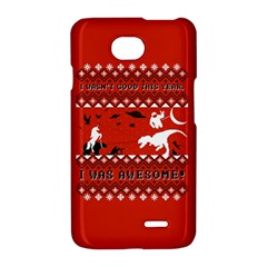 I Wasn t Good This Year, I Was Awesome! Ugly Holiday Christmas Red Background LG Optimus L70