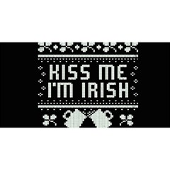 Kiss Me I m Irish Ugly Christmas Black Background You Are Invited 3d Greeting Card (8x4) by Onesevenart