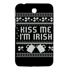 Kiss Me I m Irish Ugly Christmas Black Background Samsung Galaxy Tab 3 (7 ) P3200 Hardshell Case  by Onesevenart
