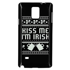 Kiss Me I m Irish Ugly Christmas Black Background Samsung Galaxy Note 4 Case (black) by Onesevenart