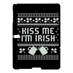 Kiss Me I m Irish Ugly Christmas Black Background Samsung Galaxy Tab S (10 5 ) Hardshell Case  by Onesevenart