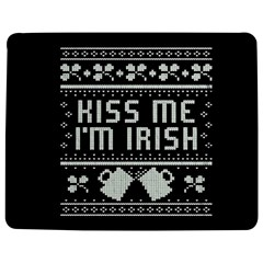 Kiss Me I m Irish Ugly Christmas Black Background Jigsaw Puzzle Photo Stand (rectangular) by Onesevenart