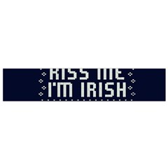 Kiss Me I m Irish Ugly Christmas Blue Background Flano Scarf (small) by Onesevenart