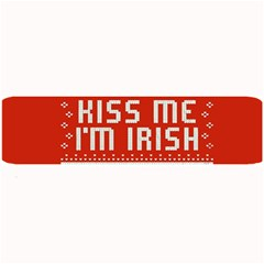 Kiss Me I m Irish Ugly Christmas Red Background Large Bar Mats by Onesevenart