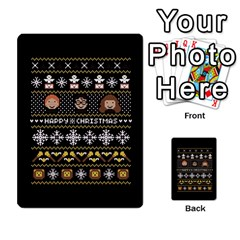 Merry Nerdmas! Ugly Christma Black Background Multi Purpose Cards (rectangle)  by Onesevenart