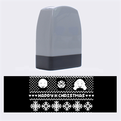 Merry Nerdmas! Ugly Christma Black Background Name Stamps by Onesevenart