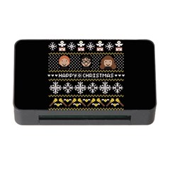 Merry Nerdmas! Ugly Christma Black Background Memory Card Reader With Cf by Onesevenart