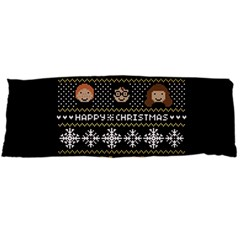 Merry Nerdmas! Ugly Christma Black Background Body Pillow Case (dakimakura) by Onesevenart