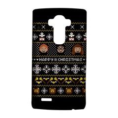 Merry Nerdmas! Ugly Christma Black Background Lg G4 Hardshell Case by Onesevenart