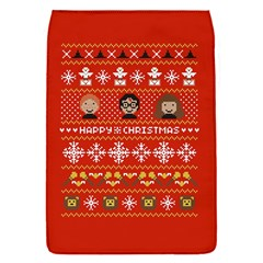 Merry Nerdmas! Ugly Christma Red Background Flap Covers (s)  by Onesevenart