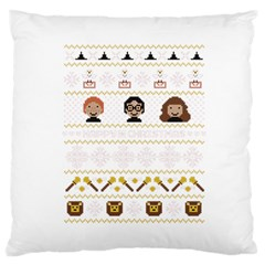 Merry Nerdmas! Ugly Christmas Large Cushion Case (two Sides) by Onesevenart