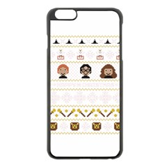 Merry Nerdmas! Ugly Christmas Apple Iphone 6 Plus/6s Plus Black Enamel Case by Onesevenart