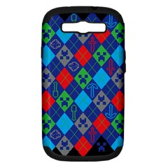 Minecraft Ugly Holiday Christmas Black Background Samsung Galaxy S Iii Hardshell Case (pc+silicone) by Onesevenart