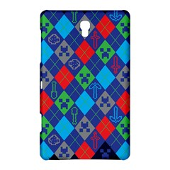 Minecraft Ugly Holiday Christmas Blue Background Samsung Galaxy Tab S (8.4 ) Hardshell Case  by Onesevenart
