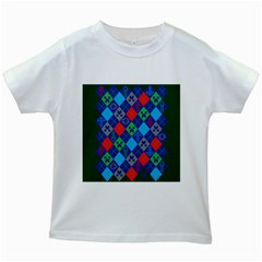 Minecraft Ugly Holiday Christmas Green Background Kids White T Shirts by Onesevenart