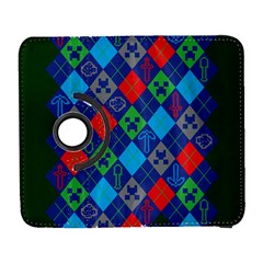 Minecraft Ugly Holiday Christmas Green Background Samsung Galaxy S  Iii Flip 360 Case by Onesevenart