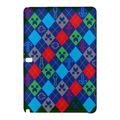Minecraft Ugly Holiday Christmas Green Background Samsung Galaxy Tab Pro 10 1 Hardshell Case by Onesevenart